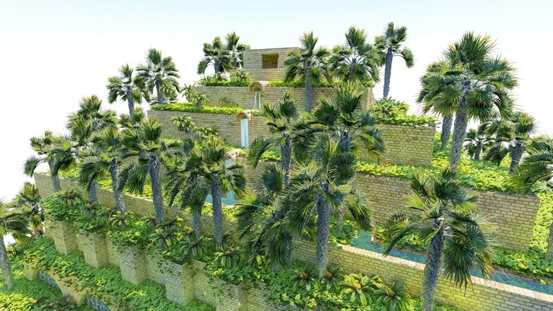 Vertical hydroponics Systems of the Gardens of Babylon