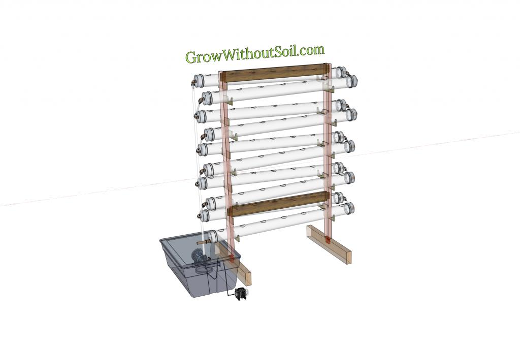 NFT system PVC pipes zigzag 3d