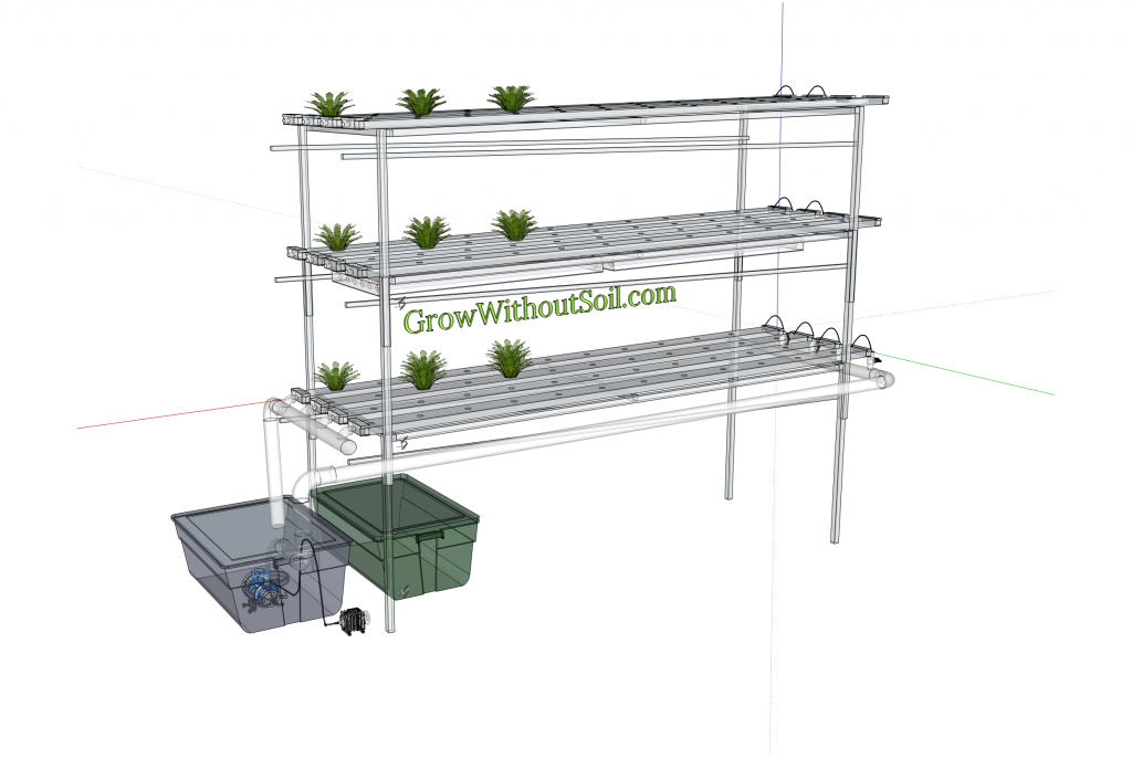 NFT system trays stacked 3d
