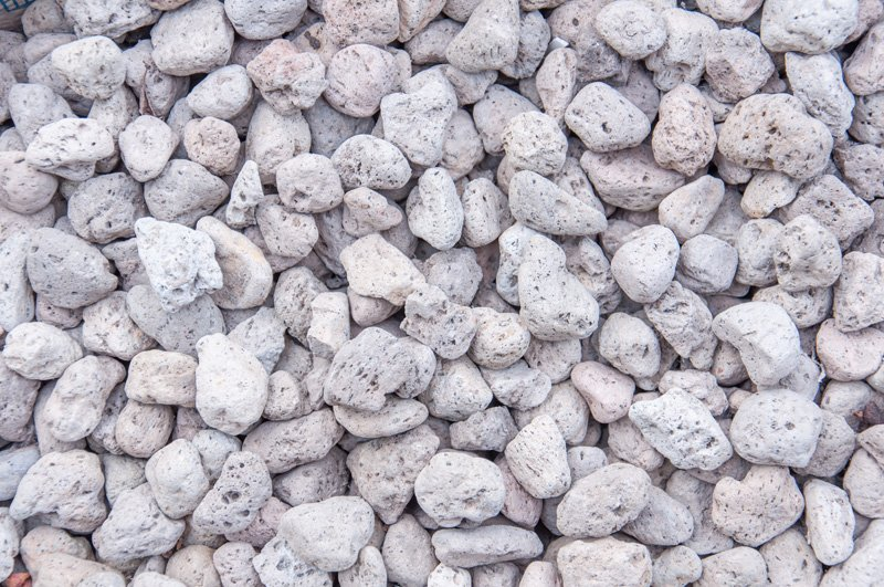 pumice pebbles