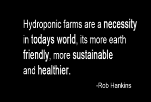 Hydroponic farms are a necessity in todays world, its more earth friendly, more sustainable and healthier