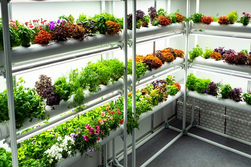 freestanding hydroponic system