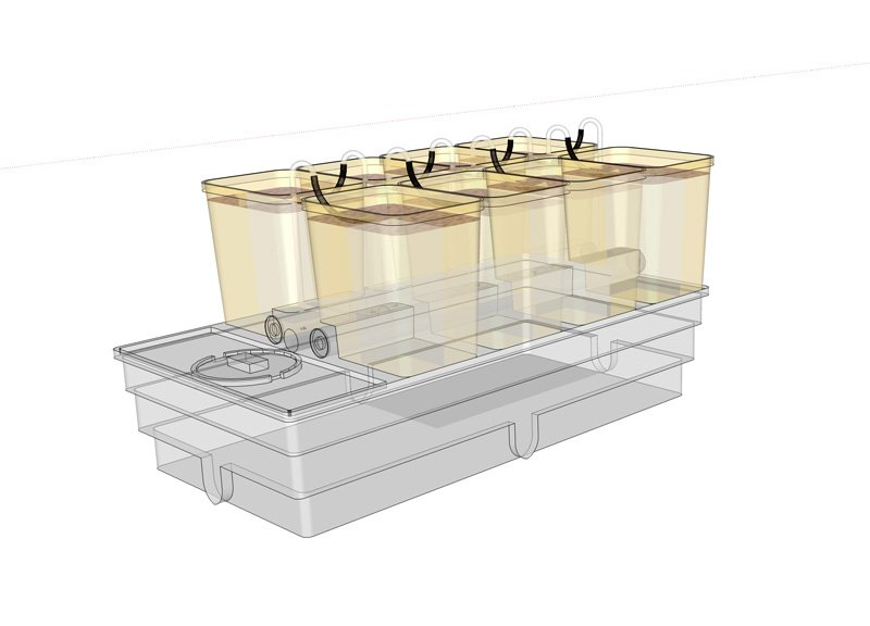 Flood and drain Hydroponic System