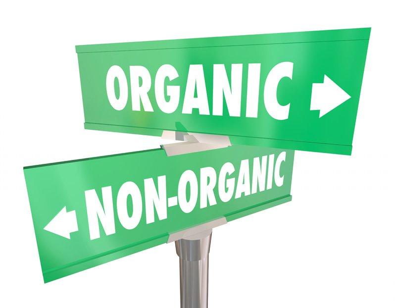 Organic vs Non Organic signs