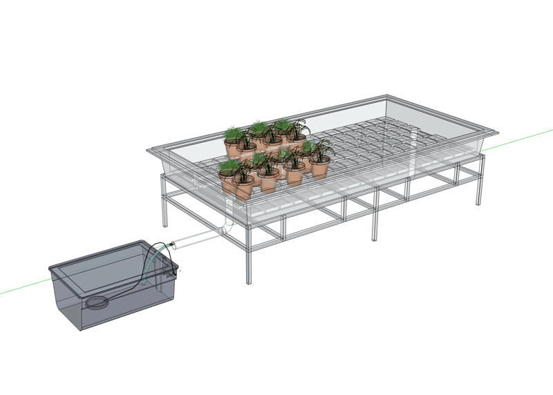 Tray Run to Waste Hydroponic System