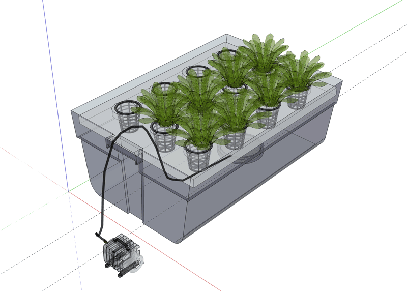 Deep Water Culture System Designs -Totes Container