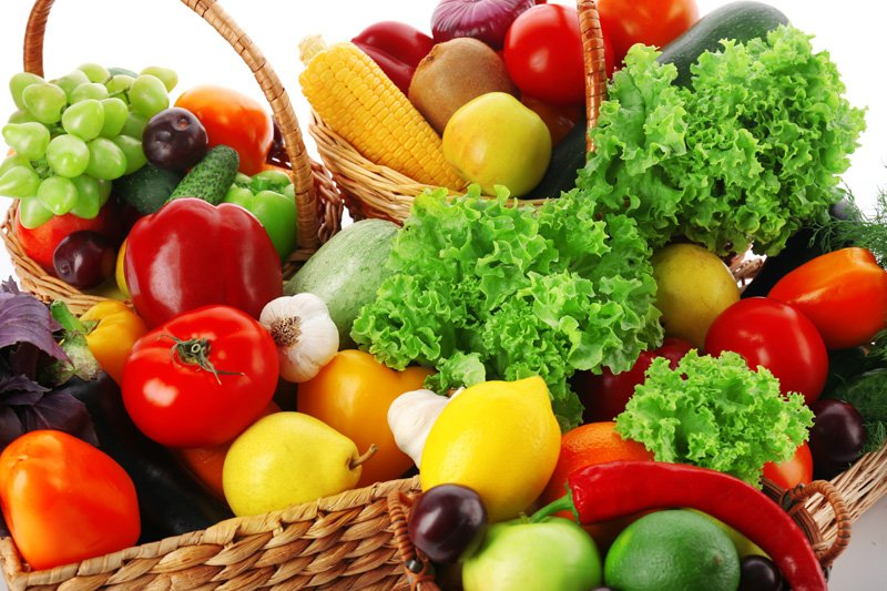 Fresh vegetables and fruits, closeup