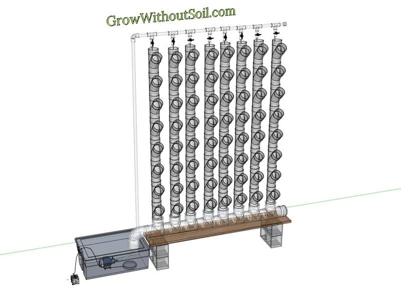 Vertical Hydroponics DIY - PVC pipe Fittings,