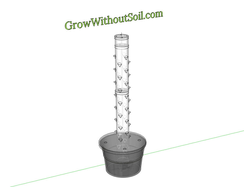 Vertical Hydroponics DIY - Garden Tower
