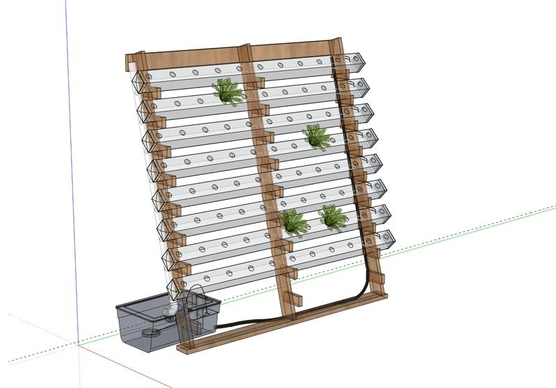 Vertical Hydroponics DIY - Vertical Wall System,